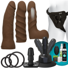 Vac-U-Lock™ - Vibrating Dual Density Starter Set - Chocolate