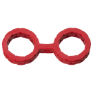 Japanese Style Bondage Silicone Cuffs - Small - Red