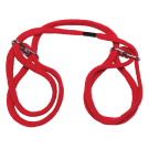 Japanese Style Bondage - 100% Cotton Wrist or Ankle Cuffs - Red