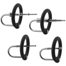 KINK - Ring & Plug Set - Silicone & Stainless Steel Cock Accessory